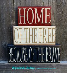Your place to buy and sell all things handmade Americana Bedroom, Vinyl Lettering, Wood Blocks, Midnight Blue, Color Show, Primitive, Family Room, Antiques, Awesome