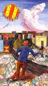 Obra de Berni - Juanito remontando su barrilete, 1973.