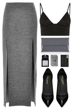 """""""Kacey"""" by end-of-the-day ❤ liked on Polyvore featuring Wes Gordon, T By Alexander Wang, Yves Saint Laurent, H&M, Henri Bendel, Topshop, women's clothing, women's fashion, women and female"""