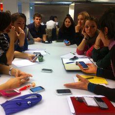 Workshop à la Gaité Lyrique avec les étudiants de sciences-po de Julie Morel. 02 février 2013.