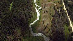 Aerial photograph, Rocky Mountain National Park, Colorado.