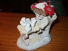 Collectible DREAMSICLE cast art figurine Cherub Angel Born this Day Christmas