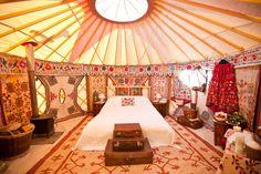 Luxury wedding night yurt interior