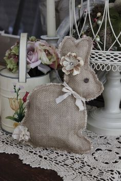 As you know, I love burlap!! Recently I was at a boutique floral shop and fell in love with all the burlap bunnies they had in the store. Th...