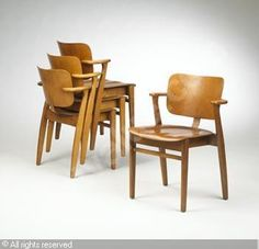 Domus Stacking Chairs, Set Of Four These Are Our Dining Room Chairs, That We