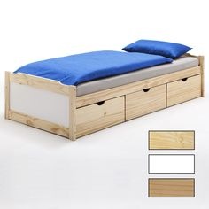 Funktionsbett 90x200 cm mit 3 Schubladen | CARO-Möbel Entryway Bench, Storage, Furniture, Home Decor, Decorating Living Rooms, Tall Drawers, Child Bed, Bedroom, Entry Bench
