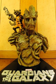 """Rocket & Groot outside the """"Guardians of the Galaxy"""" Singapore Press Conference"""