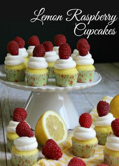 Lemon Raspberry Cupcakes | Recipe on HoosierHomemade.com