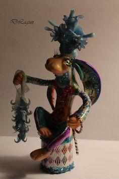 fantasy sculptures OOAK figurine   animal by FantasySculpturesArt