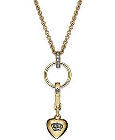 Juicy Couture Necklace, Gold Tone Charm Catcher Long Necklace - Fashion Jewelry - Jewelry & Watches - Macy's