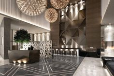 hotel lobby rendering - Google Search                                                                                                                                                                                 More
