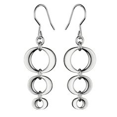 Two crescent shapes meet to form these circular shapes, a detail that sets these earrings apart. Kalevala Silver Korona Earrings - $156