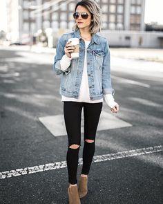 Denim-jacket2-675x845 6 Stylish Fall Outfits for School