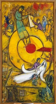 'Liberation' - 1937-1952 - by Marc Chagall (Belarusian, 1887-1985) - Oil on canvas - 168x88cm. - Musée national Message Biblique Marc Chagall, Nice, France - http://en.musees-nationaux-alpesmaritimes.fr/chagall/
