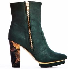 b797e5fe4d8 Behold the Arden Wohl x Cri de Coeur Everett double zip bootie made of  vegan leather and a cork heel in an ethical factory in China. Ethical High  Fashion ...