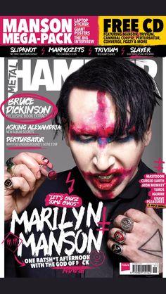 Metal Hammer Magazine November 2017 Marilyn Manson UK Cover Exclusive