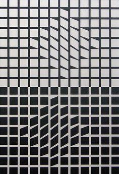 Vasarely, Aluminum Serigraph, Eridan II, 1956 (thumbnail 1)