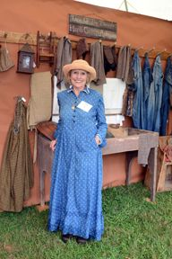 Sandy Hart from Hart's Country Antiques - one of the many fine dealers at the Days of the Pioneer Antique Show. Held at the Historic Museum of Appalachia!