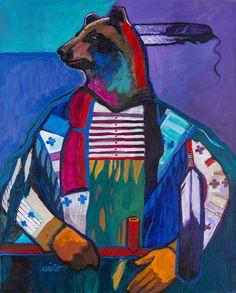 native american bear nieto john painting encaustic respect americans must give easy drawings kicking indigenous creative simple apache