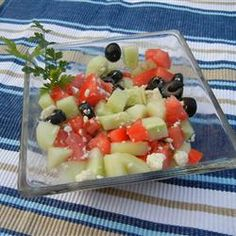 Cucumber and Blue Cheese salad