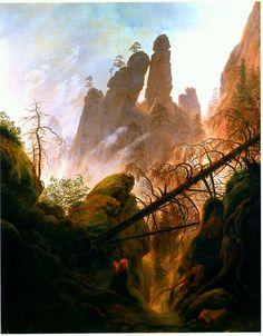 Rocky Ravine - Caspar David Friedrich