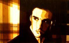 Портрет, нарисованный скотчем: необычные картины Макса Зорна