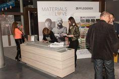 "Stoisko ""Materials we love. Concept by Zięta & Kuchciński – od materiałów Pfleiderer do mebli"" Material, Events, Design"