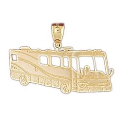 14K GOLD TRANSPORTATION CHARM - BUS #4401