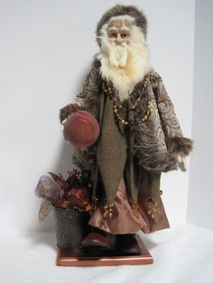 Pomegranite Father Christmas by PutsyPlace on Etsy