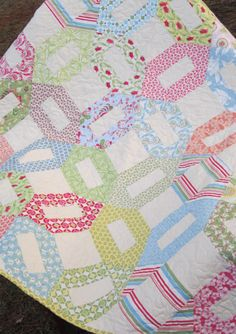 Lap or Baby Quilt in Verna by Kate Spain