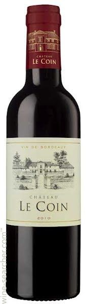 Click to see larger label image -- Chateau Le Coin 2010 Bordeaux