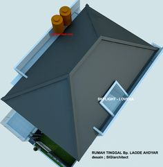 denah rumah minimalis model rumah 2  lantai 3 Beautiful Home Designs, Beautiful Homes, Dream Home Design, House Design, Home Projects, Projects To Try, Rooftop Design, House Roof, Skylight