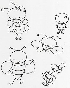 Cute little bugs free embroidery pattern or template for applique Embroidery Patterns Free, Embroidery Applique, Cross Stitch Embroidery, Machine Embroidery, Embroidery Designs, Embroidery Monogram, Sewing Crafts, Sewing Projects, Cross Stitching