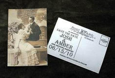 save the date postcard. I am loving the back.