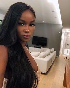Most Beautiful Black Women, Pretty Black Girls, Baddie Hairstyles, Black Girls Hairstyles, Dark Skin Beauty, Hair Beauty, Black Girl Aesthetic, Brown Skin Girls, Girls Makeup