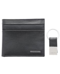 Calvin Klein Smooth Card Case Wallet with Key Fob