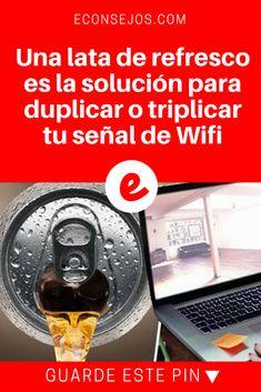 Señal de internet | Una lata de refresco es la solución para duplicar o triplicar tu señal de Wifi | Su señal de internet es muy lenta, haga este truco en casa y comparta para que más personas se beneficien.