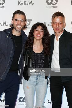 Nik Xhelilaj, Cansu Tosun and Tom Wlaschiha during the opening reception for the KaDeWe X AlphaTauri at KaDeWe on April 2019 in Berlin, Germany. Get premium, high resolution news photos at Getty Images Tom Wlaschiha, Toms, April 3, Berlin Germany, Reception, 3d, Yellow, Receptions, Tom Shoes