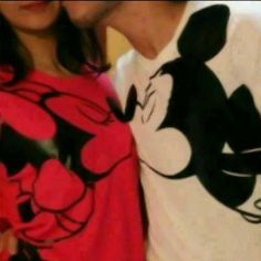mickey and minnie tee t-shirt shirt minnie mouse couple sweaters couple clothing mickey mouse