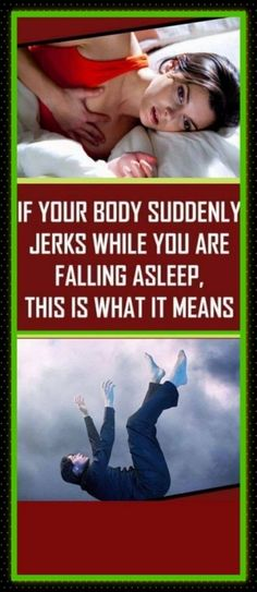 #body #jerks #sleep #falling #dream #night #bed Healthy Lifestyle Tips, Healthy Habits, Healthy Food, Healthy Eating, Healthy Detox, Healthy Women, Healthy Skin, Home Remedies For Acne, Natural Remedies