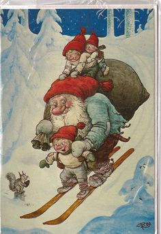 "Image detail for -Unused Christmas Card by Rolf Lidberg called ""Just hold me tight"" from ..."