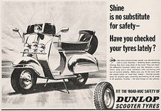 DUNLOP SCOOTER TYRES (old school paul) Tags: vintage ads mod scooter 1967 tyres dunlop
