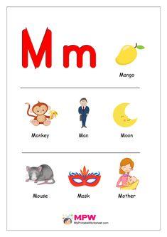 Things that start with P, Q, R, S, T for Preschool Alphabet Words, Alphabet Phonics, Alphabet Pictures, Alphabet Charts, Preschool Alphabet, Printable Preschool Worksheets, Alphabet Worksheets, Alphabet Activities, Kindergarten Worksheets
