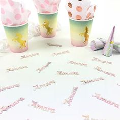 Whether you are celebrating a birthday, wedding, baby shower or unicorn themed party, you will love this pretty personalised confetti in a name of your choice. Pastel Party Decorations, Elegant Names, Party Packs, Little Princess, Confetti, Fundraising, First Birthdays, Party Themes, Unicorn