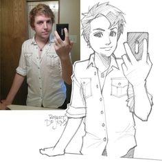 Robert-deJesus-divertidos-retratos-anime-001