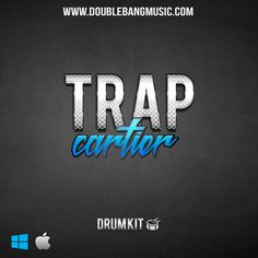 Trap Cartier Drum Kit  £14.90  'Trap Cartier Drum kit' from Double Bang Music is here to bless you with a new, awe-inspiring pack. Exclusive collection of unique samples the freshest 808, Kicks, Snares, Hi Hats, Clap and more.. this pack contains everything you need to rattle your trunk and wake the neighbors.