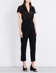 SANDRO - Pointers crepe and chiffon jumpsuit | Selfridges.com