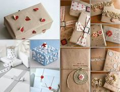 Balení dárků Diy Gifts, Wraps, Gift Wrapping, Christmas, Album, Girly Girl, Gift Wrapping Paper, Yule, Coats