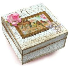 Keepsake Jewelry Box Shabby Chic Vintage Box
