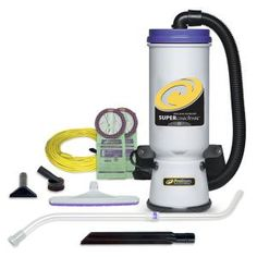 ProTeam Super QuarterVac 6 Qt. Commercial Backpack Vacuum Cleaner with Xover Multi-Surface Telescoping Wand Tool Kit-107118 - The Home Depot Backpack Vacuum, Residential Cleaning Services, Commercial Vacuum, Dust Extractor, Power Motors, Surface 2, Low Pile Carpet, Best Vacuum, Best Commercials